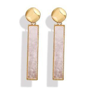 Shell Retro Creative Long Simple Stud Earrings